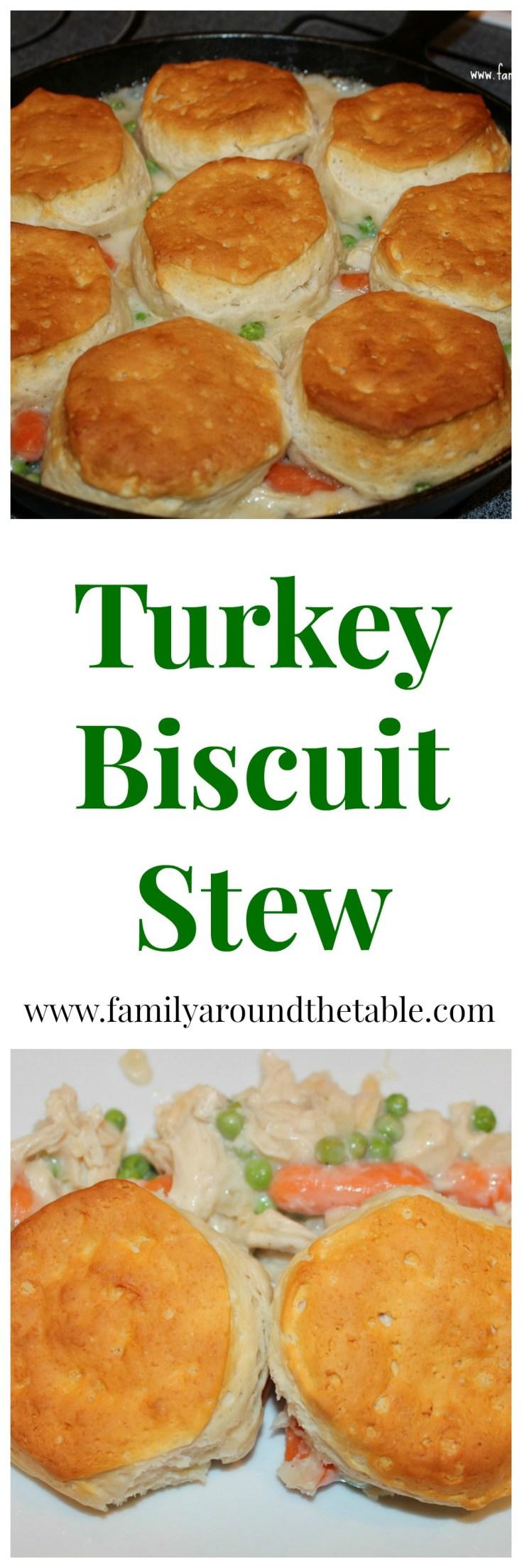 Turkey Biscuit Stew is comfort food!