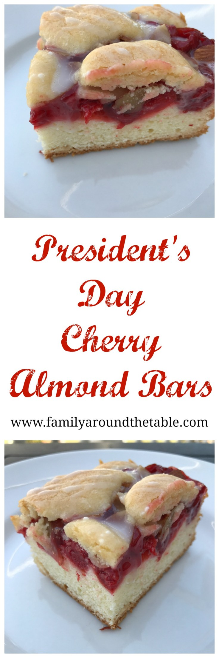 Cherry almond bars are a delicious dessert.