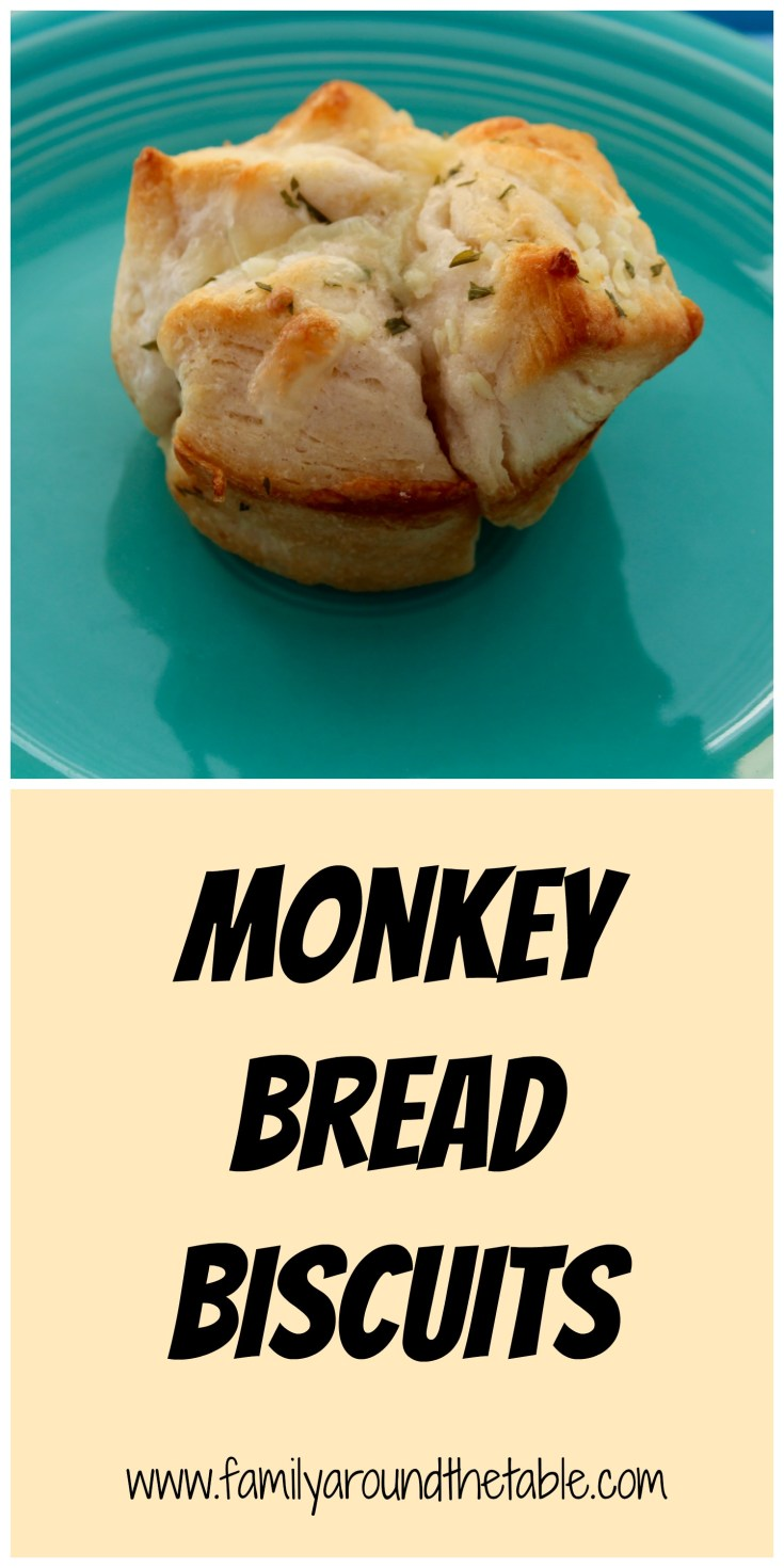 Biscuit monkey bread is perfect with soups, chili or dinner!