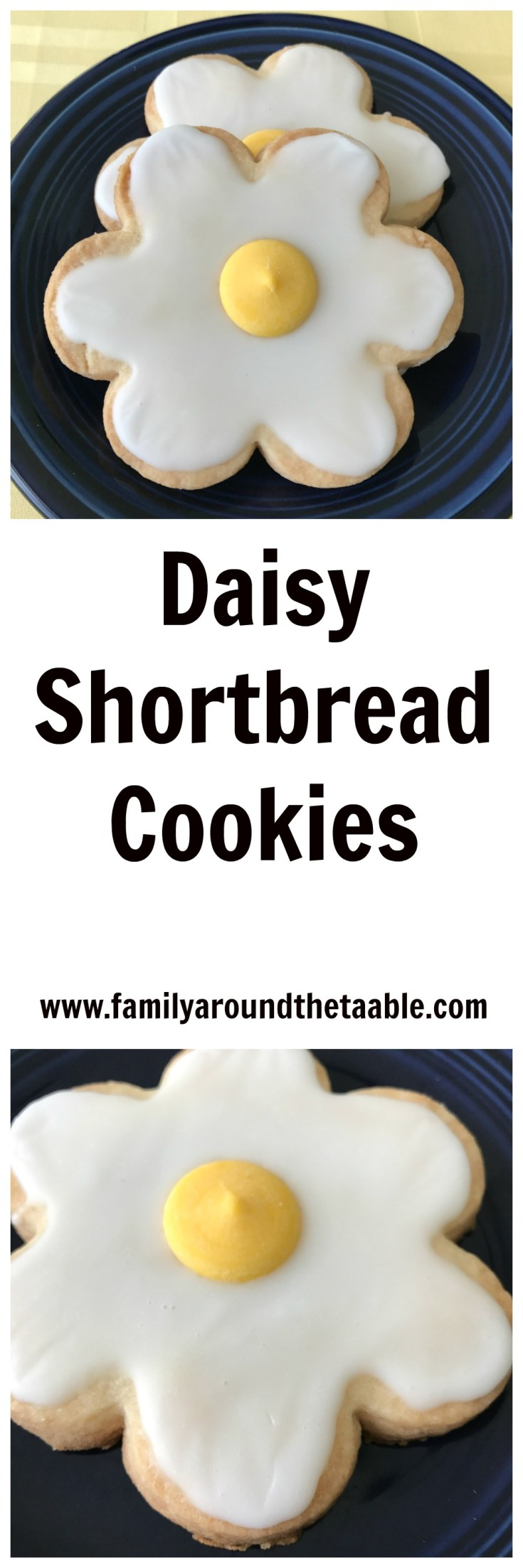 Daisy shortbread cookies are perfect for wedding showers, baby showers and to welcome spring.