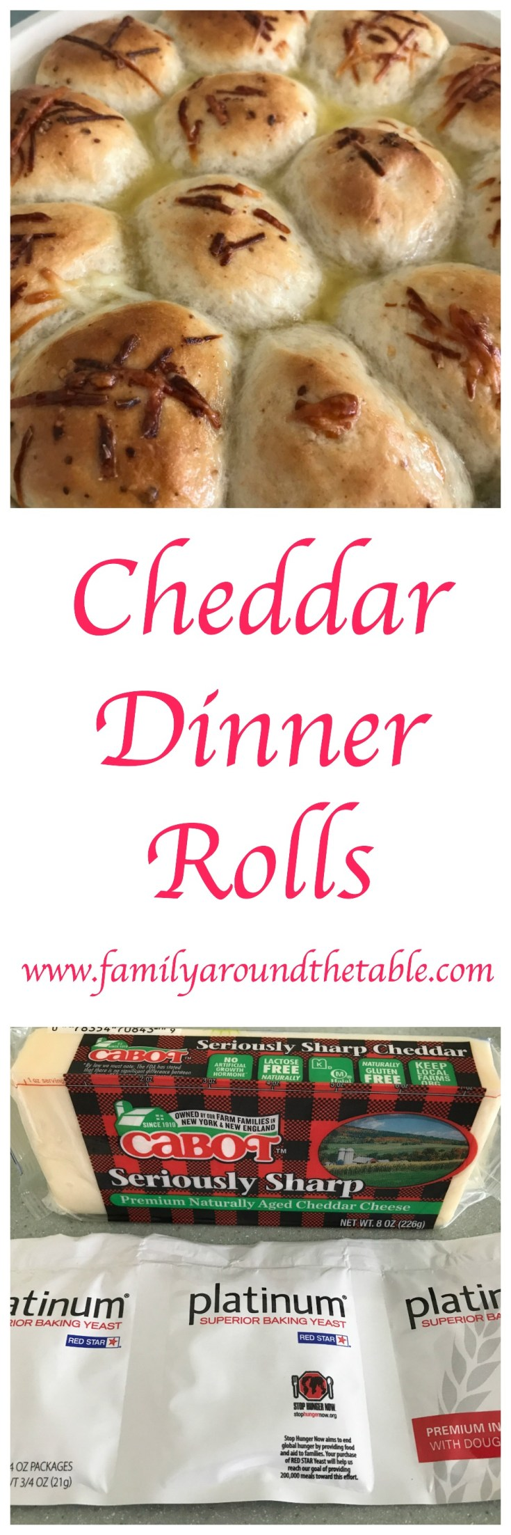 Cheddar dinner rolls are a great addition to any meal.