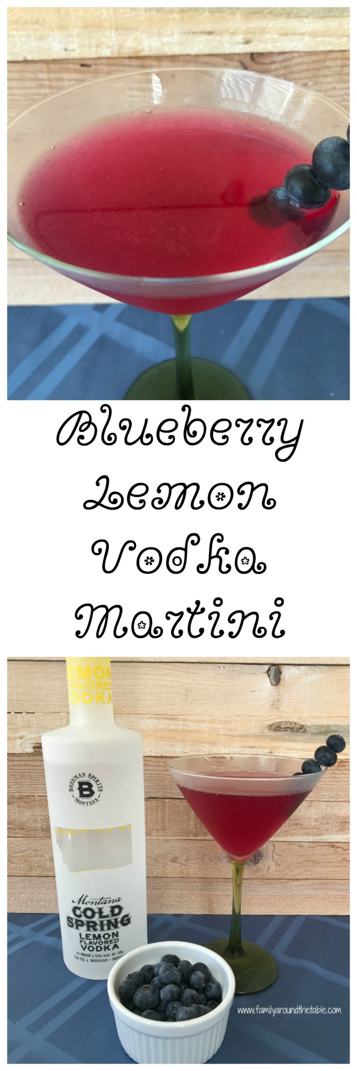 Blueberry Lemon Vodka martinis are perfect for any occasion.