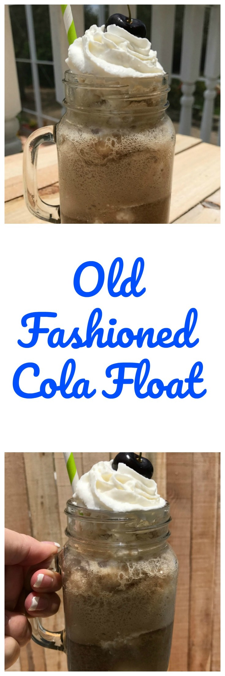 A old fashioned cola float will take you back to your childhood.
