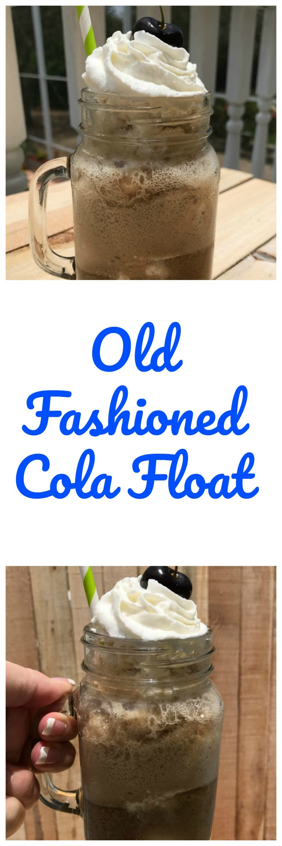 Make old fashioned cola floats on a hot summer day to cool off.