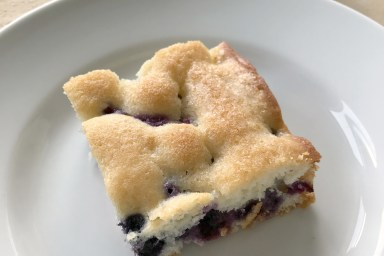 Fresh Blueberry Coffee Cake starts the day off right.