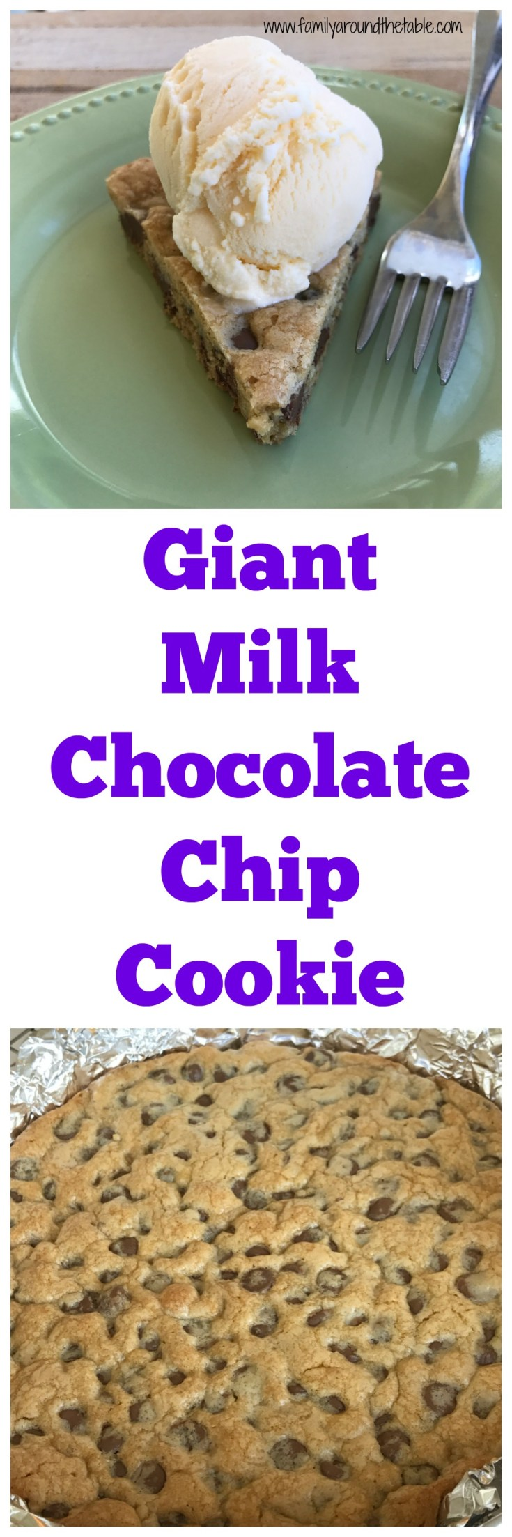 A giant milk chocolate chip cookie is sure to be a hit.