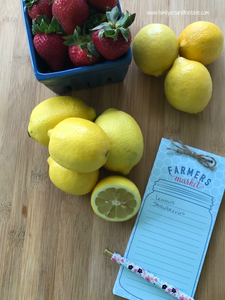 Make delicious strawberry lemonade with farmers market finds.