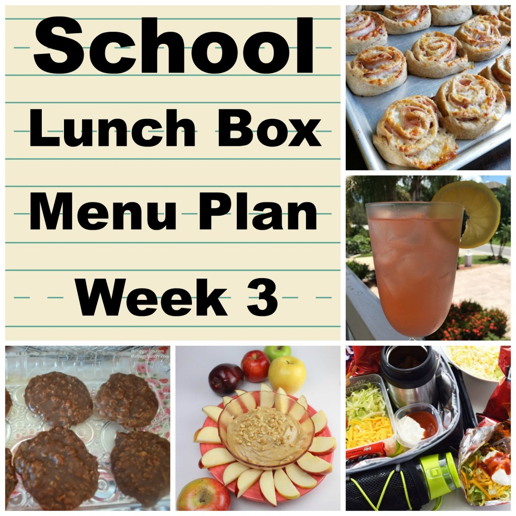 School Lunch Box Menu Plan Week 3 is full of fun food ideas.