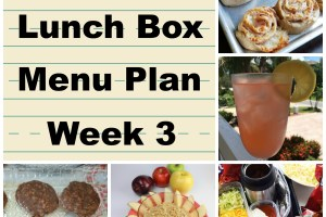 School Lunch Box Menu Plan Week 3