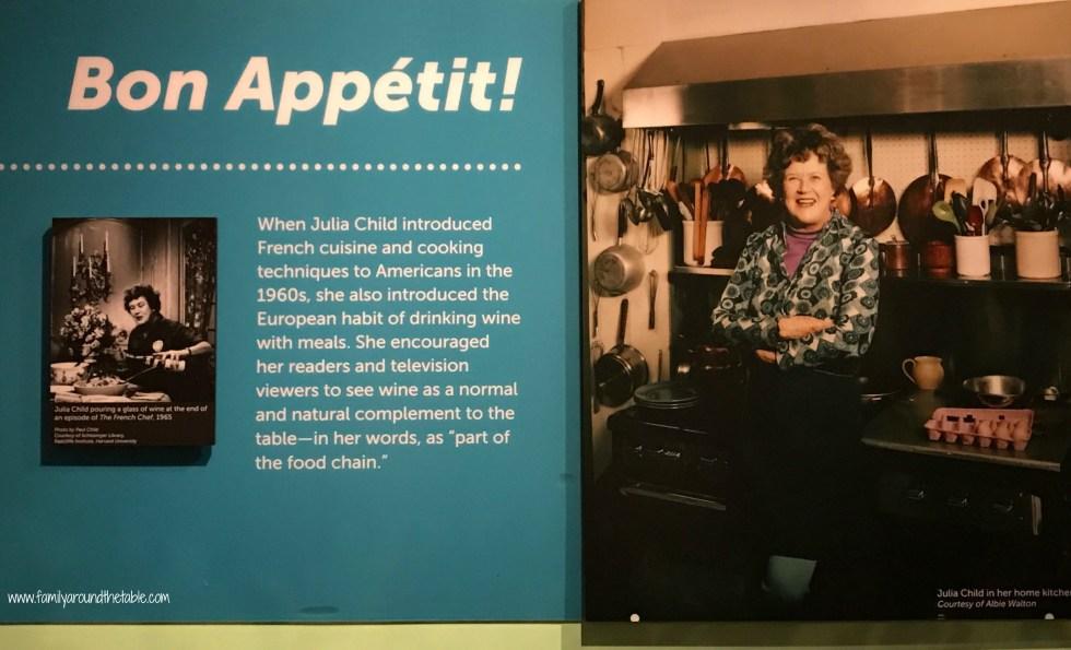 Julia Child exhibit at the Smithsonian Museum.