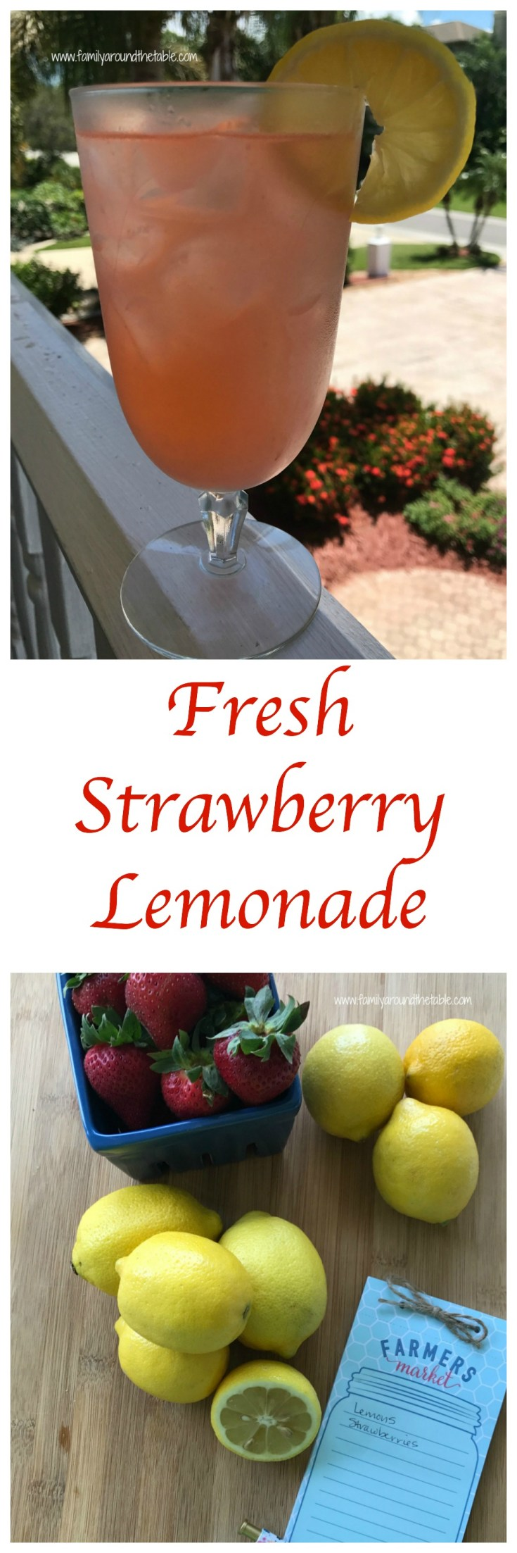 A pitcher of fresh strawberry lemonade is perfect for summer picnics or poolside sipping.