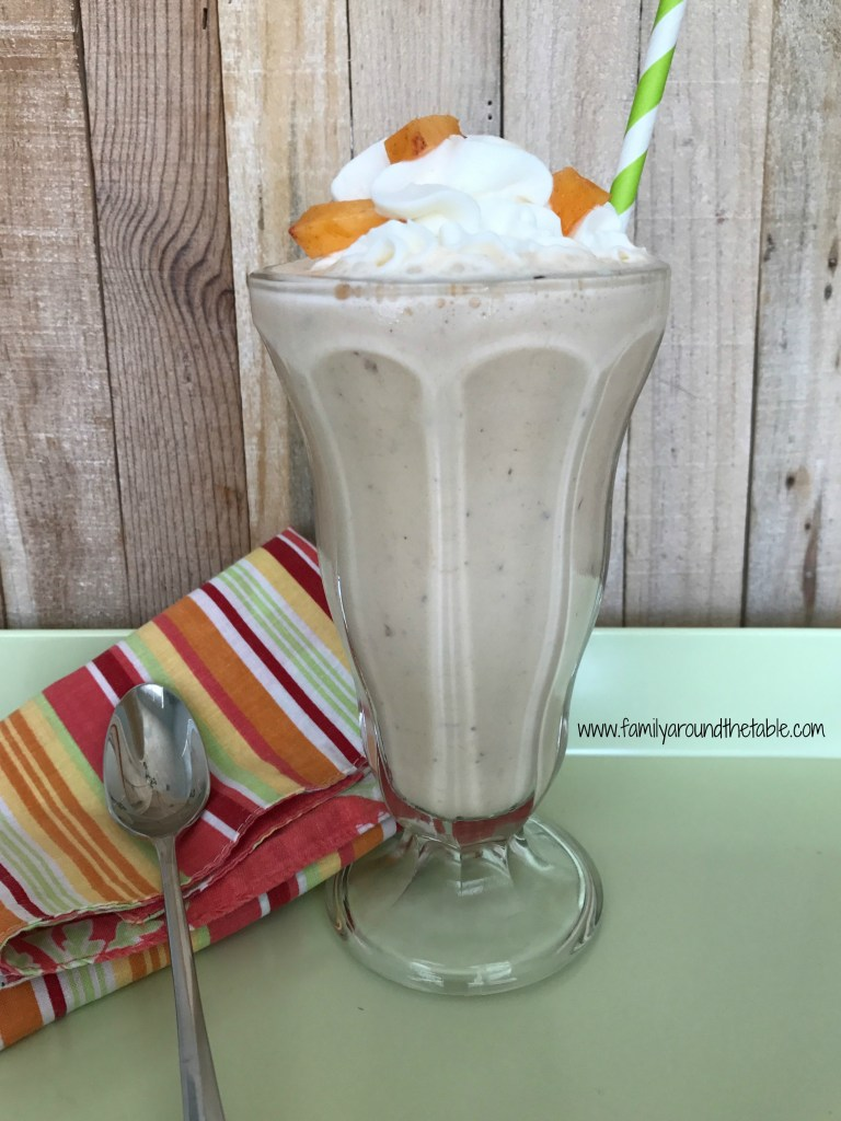 Fresh Peach Milkshake