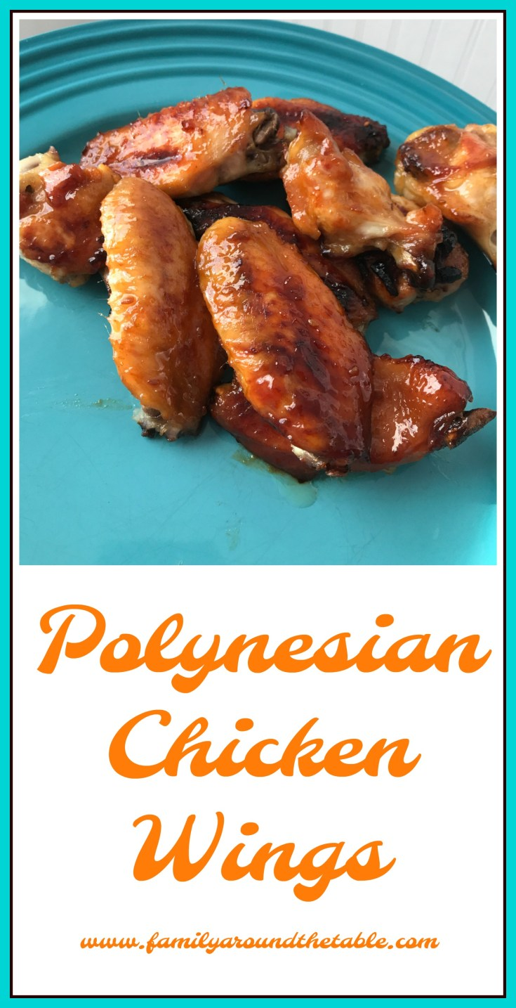 Polynesian chicken wings are full of flavor and are delicious for a tailgate party.