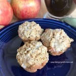 Mini Apple Muffins with Oatmeal Streusel Topping