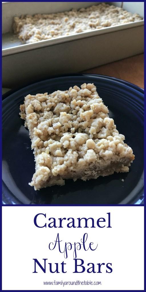 Caramel Apple Nut Bars make a great snack or dessert.