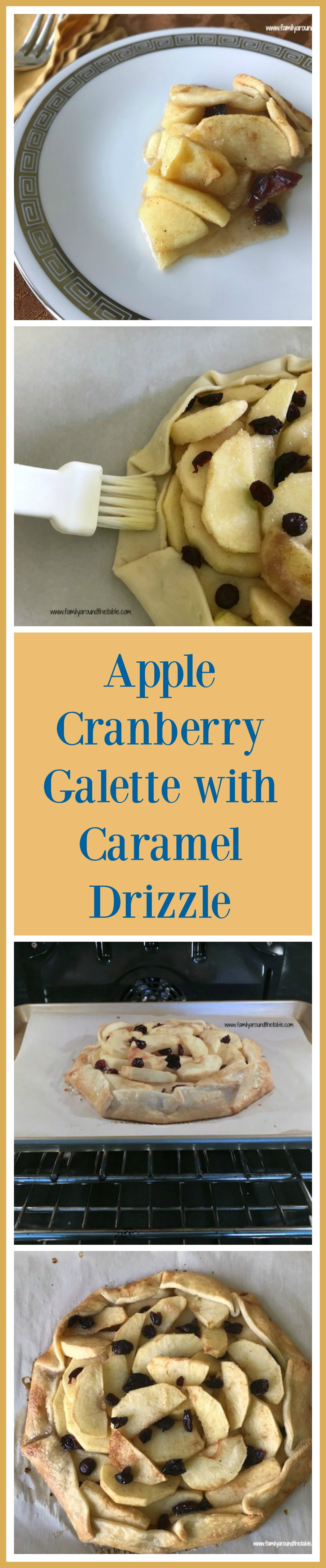 Apple Cranberry Galette with Caramel Drizzle is an impressive, yet easy dessert.