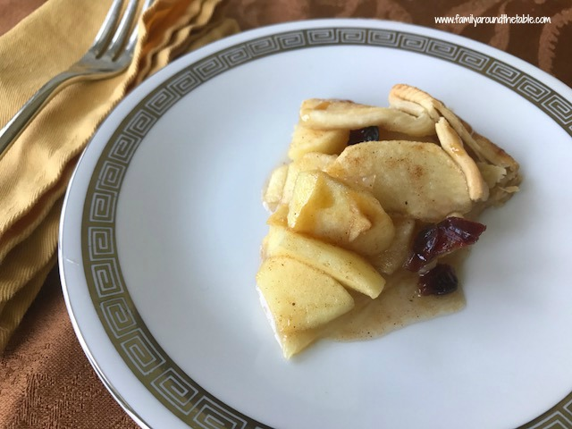 Apple Cranberry Galettes with Caramel Drizzle