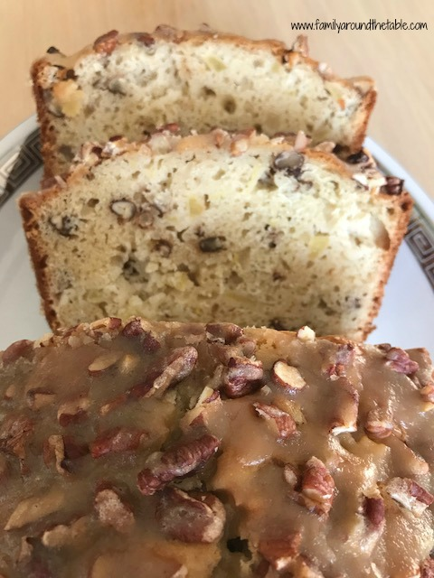 Praline Apple Bread is perfect with your morning coffee or tea.