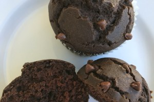 Chocolate Chip Chocolate Muffins  #Choctoberfest
