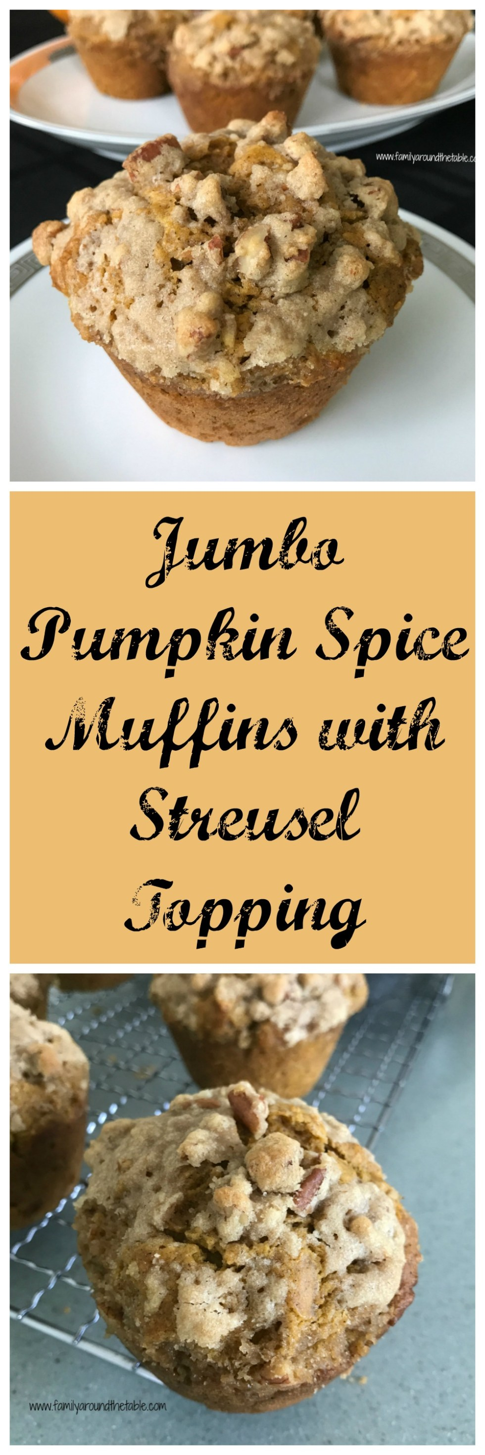Wake up to Jumbo Pumpkin Spice Muffins with Streusel Topping.
