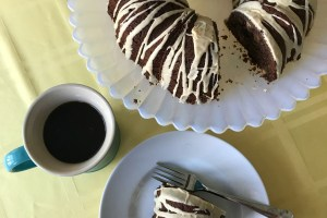 Chocolate Peanut Butter Bundt Cake with Peanut Butter Glaze