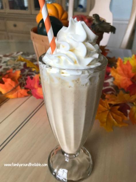 Pumpkin Spice Milkshake is a sweet treat after dinner.