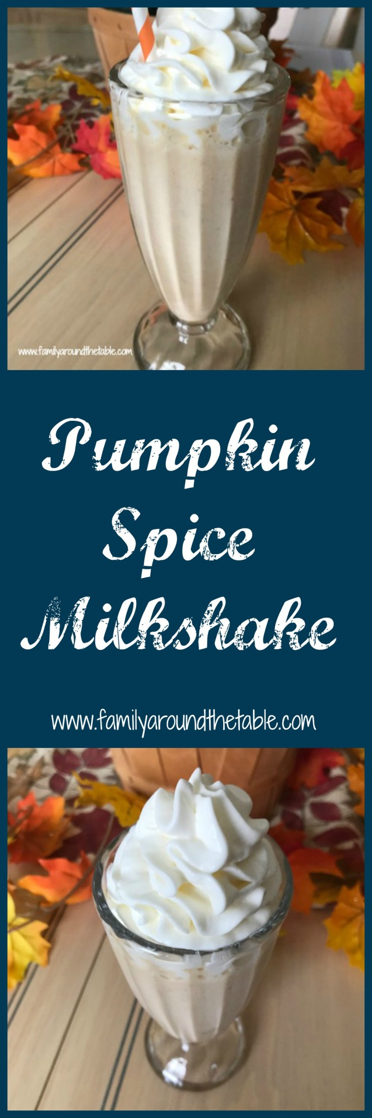 Treat yourself to to a fall classic in a pumpkin spice milkshake.