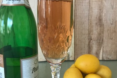 Cranberry Key lime mimosa is perfect for entertaining.