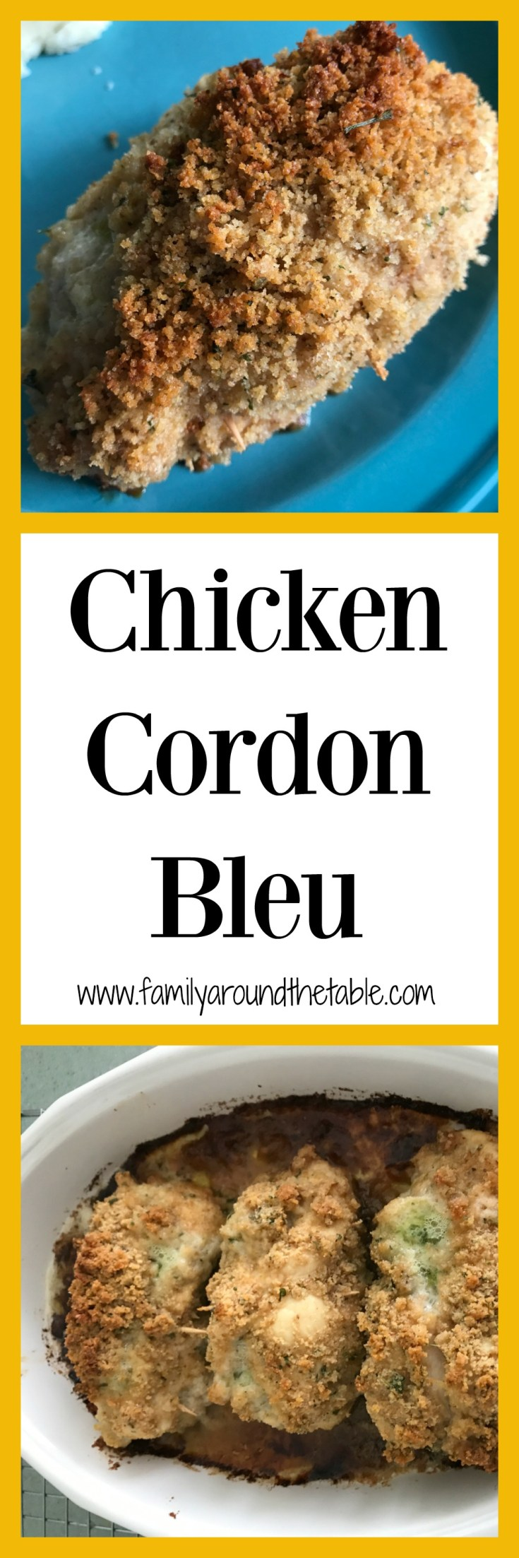 Chicken Cordon Bleu is pure comfort food.