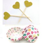 Valentine's Day cupcake liners