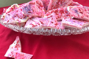 White Chocolate Valentine Bark