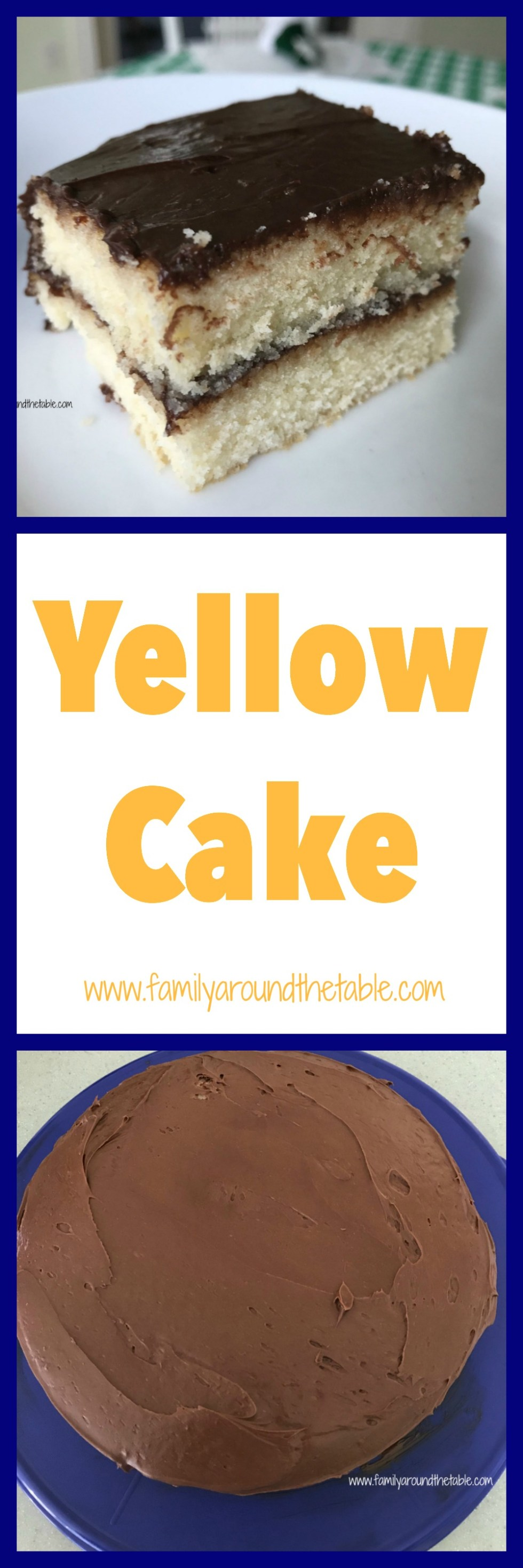 Top yellow cake what your favorite frosting for any special occasion.