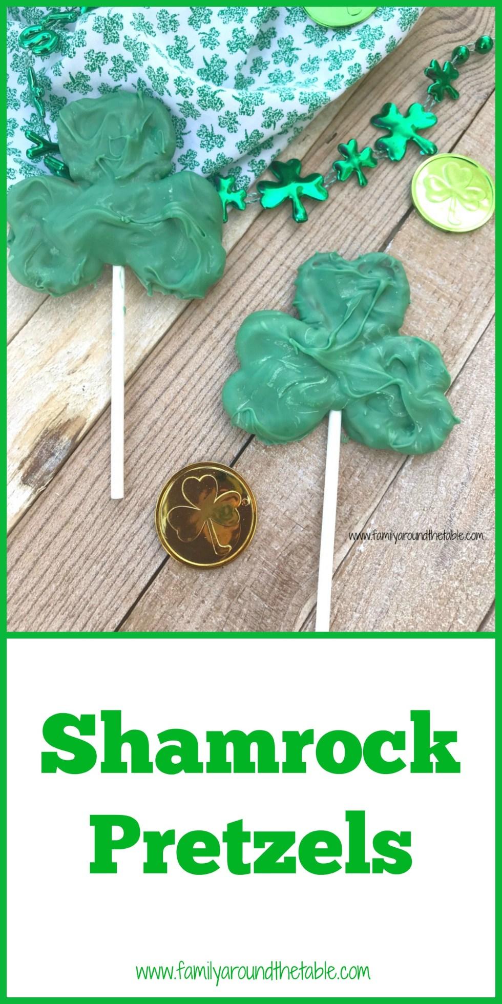 Pretzel shamrocks are a fun St. Patrick's Day treat.