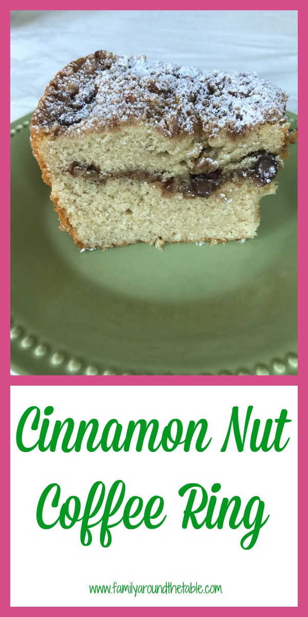 Cinnamon nut coffee ring can be breakfast or dessert.