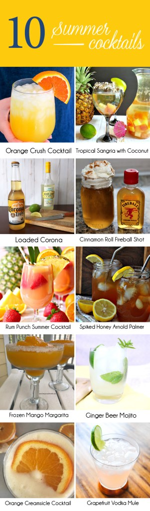 Refreshing summer cocktails for any occasion.
