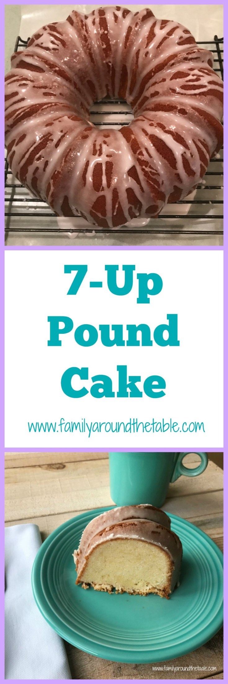 7-Up pound cake travels well, making it perfect for a potluck party.