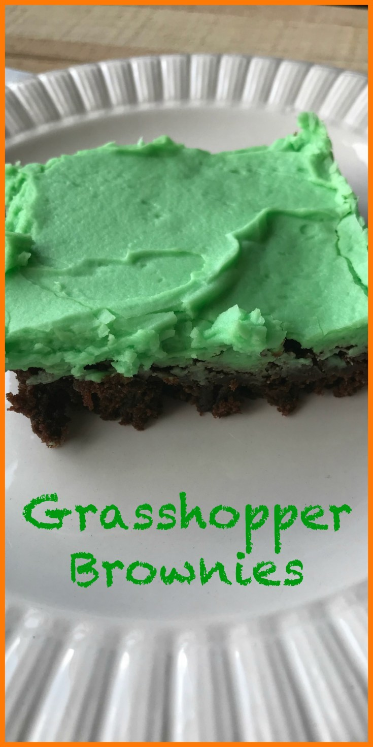 Grasshopper brownies start with a mix making them perfect for last minute parties.
