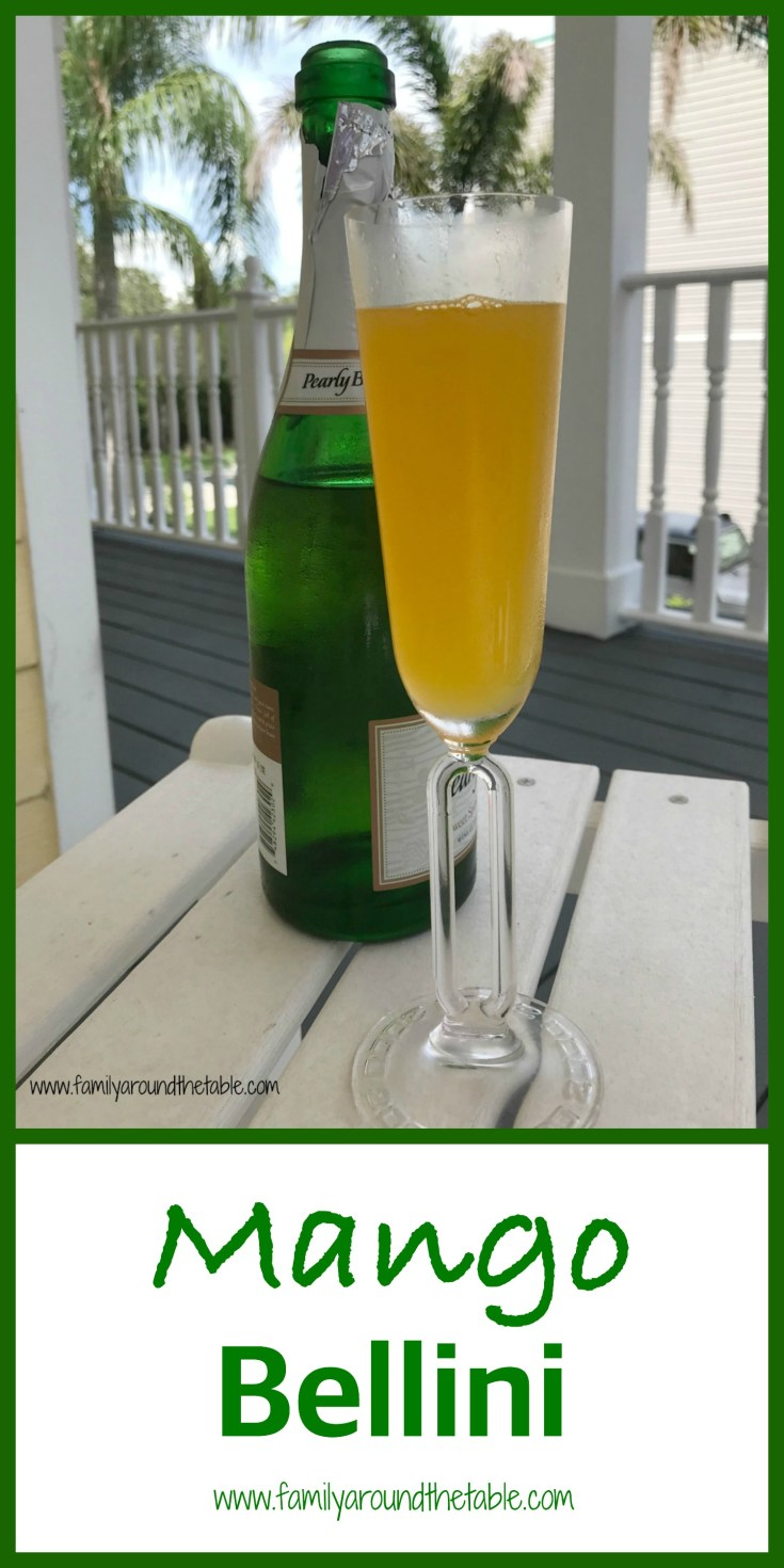 A mango bellini is the perfect way to celebrate any summer occasion.