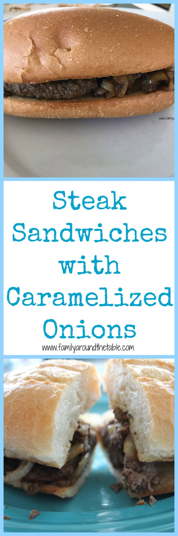 Steak sandwiches with caramelized opinions will make anyone happy.