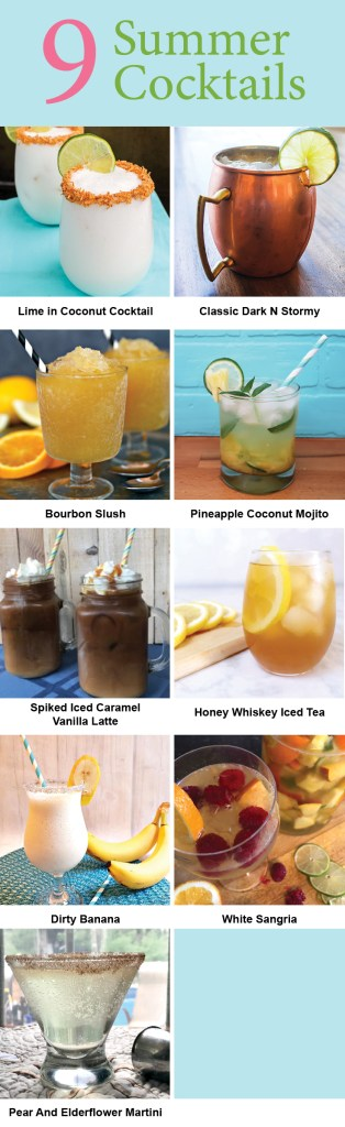 These summer cocktails will cool you off on a hot day.