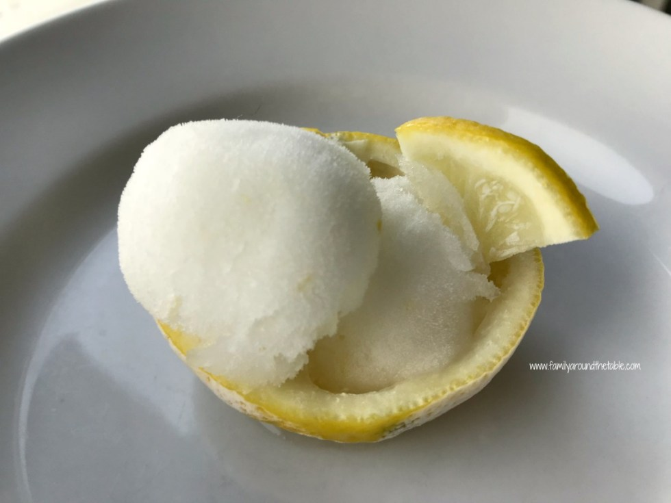 Lemon sorbet cleanses the palate and wakes up the taste buds for your main course.