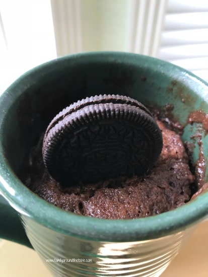 Oreo mug cake when you need a little something sweet.