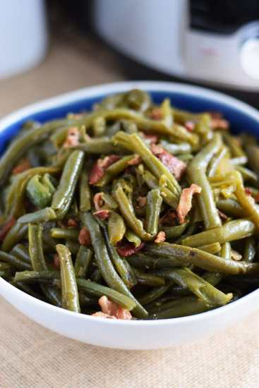 Southern Style Green Beans and Bacon from Soulfully Made