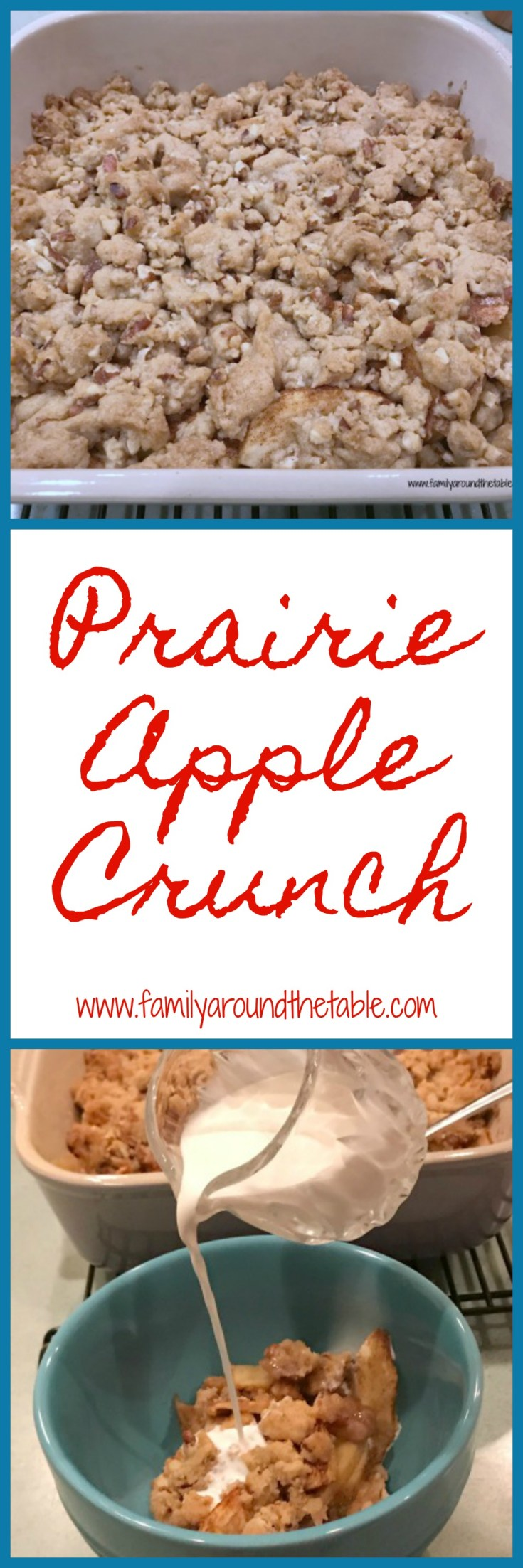 Prairie apple crunch is full of sweet apples and a tasty crunch making it a delightful fall dessert.