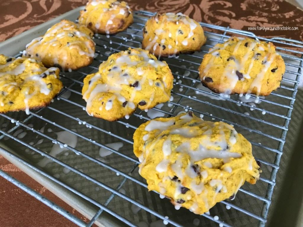 Glazed Pumpkin Chocolate Chip Scones