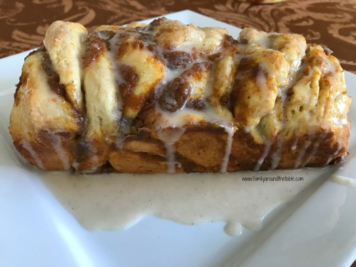 Delicious pull-apart bread makes a fun breakfast for the family.