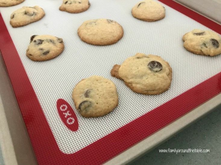 Salted chocolate chip cookies satisfy that sweet/ salty craving.