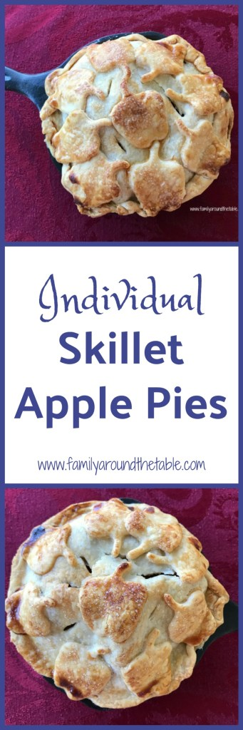 Individual skillet apple pies are a fun way to serve dessert to family and friends. #AppleWeek