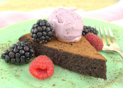 Flourless chocolate cake from Palatable Pastime.
