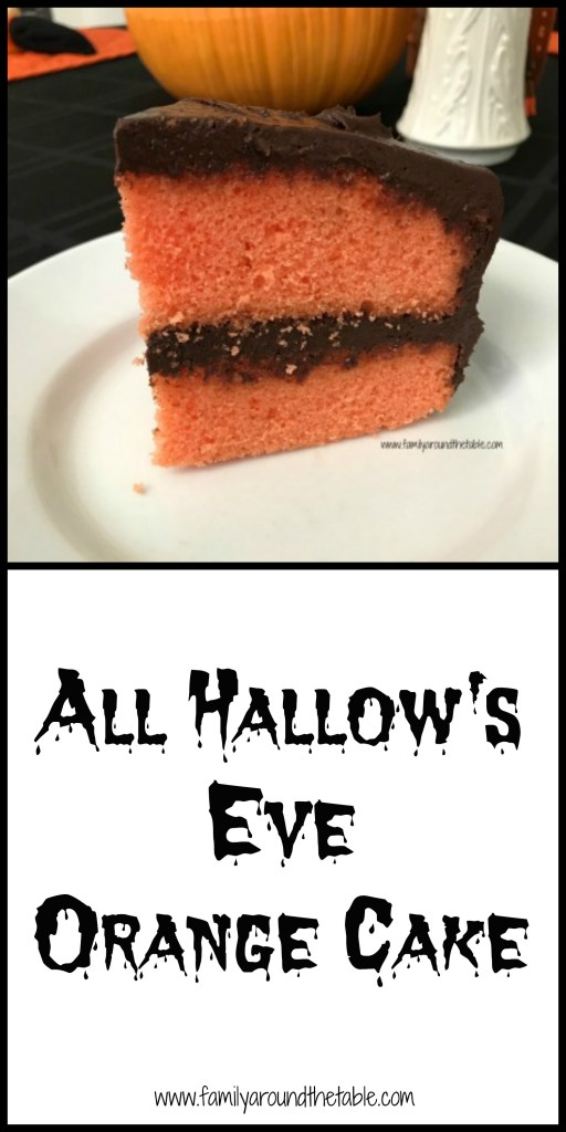 All Hallow's Eve Orange Cake combines the classic flavors of chocolate and orange.